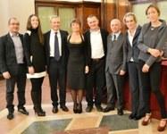 Nella foto da sinistra Gianfranco Pigliaru, Sara Santaniello, Salvatore Rinaldi, Margherita Maioli, Carlo Ventura, Alessandro Castagna, Vania Fontani, Claudia Cavallini