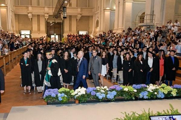 Il Rettore Francesco Ubertini e gli altri ospiti della cerimonia (Foto di Schiassi)