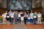 Il gruppo di studenti meritevoli non comunitari - Foto Schiassi