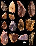 Alcuni dei manufatti della Media Età della Pietra ritrovati a Jebel Irhoud. Credit: Mohammed Kamal, MPI EVA Leipzig, License: CC-BY-SA 2.0.