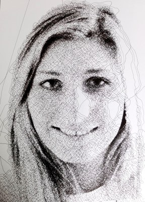 Caravaggio elabora e ricrea qualunque immagine, disegnandola su carta con un unico, singolo, lunghissimo tratto