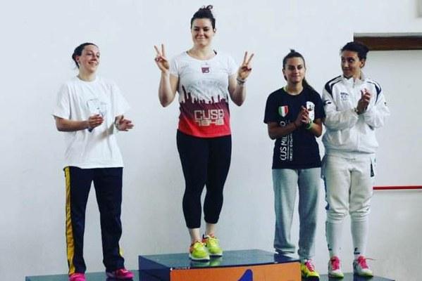 Medaglia d'oro nella sciabola femminile con Francesca Ponti