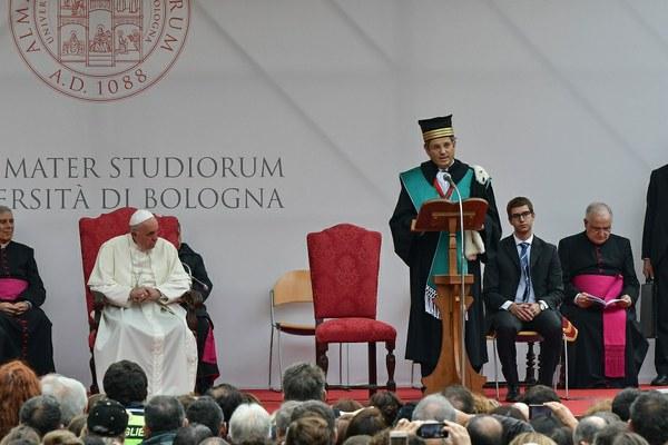 Il discorso del Rettore Francesco Ubertini (Foto Schiassi)