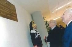 Foto scattata durante l'inaugurazione dell'Aula, nel 2007: Calzolari e Napolitano
