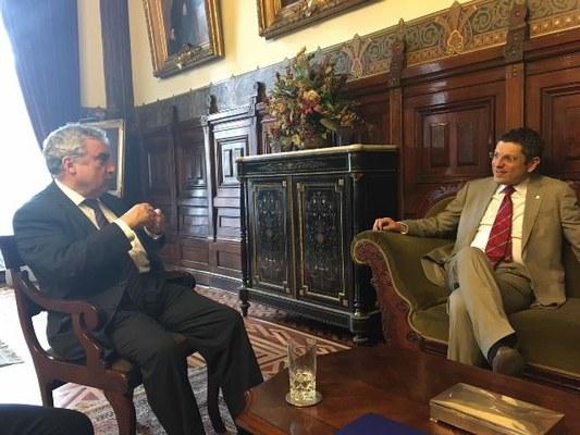 Universidad de Chile - incontro con il Rettore Vivaldi