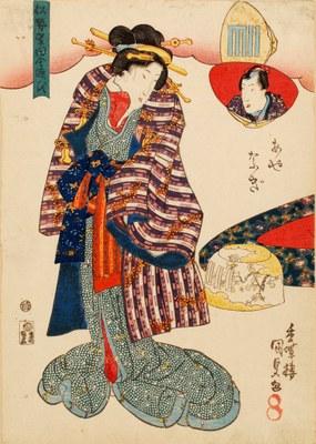 Nise Murasaki inaka Genji - Ayanagi (La finta Murasaki e il Genji campagnolo: Ayanagi), 1834 ca.