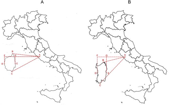 Cartina Sardegna Centro Ovest.L Italia Raddrizzata E La Piccola Europa Le Mappe Distorte Della Nostra Mente Unibomagazine