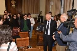 Piero Angela riceve il Premio SISS alla Carriera 2017 - Foto di Massimo Matera