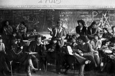 Il Dams in assemblea nel 1977, foto di Enrico Scuro